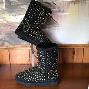 rare UGG & JIMMY CHOO boot studs black AUTHENTIC